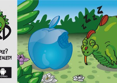 Mr. Lizard - Who bit the apple?